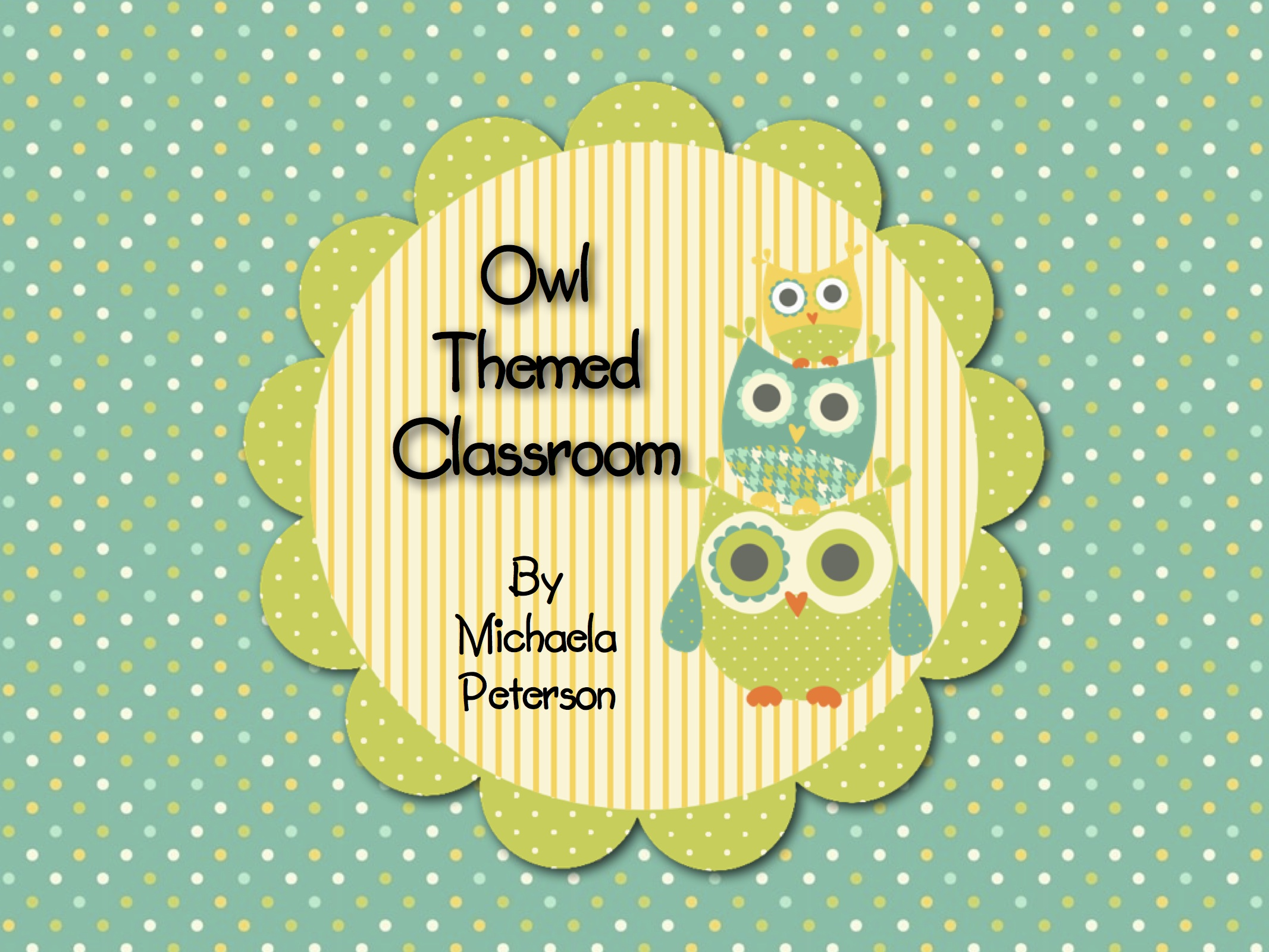 Owl Theme Classroom preview
