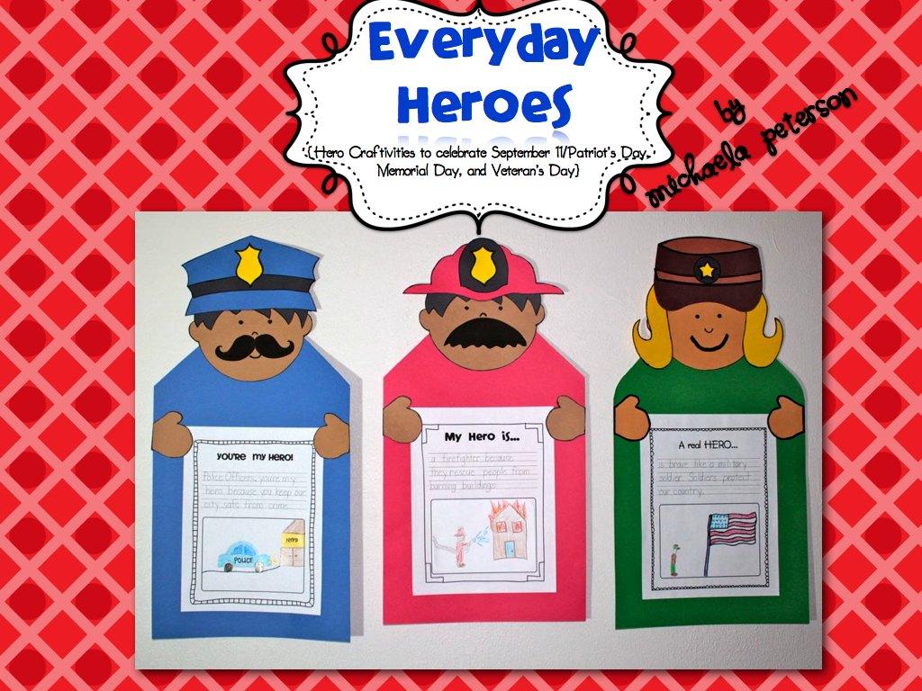 September 11/Patriot's Day, Memorial Day, Veteran's Day Craftivity