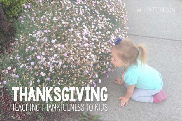 teaching kids thankfulness