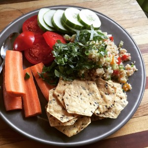 I love quick, easy, healthy meals like this quinoa spread. Here's the recipe!